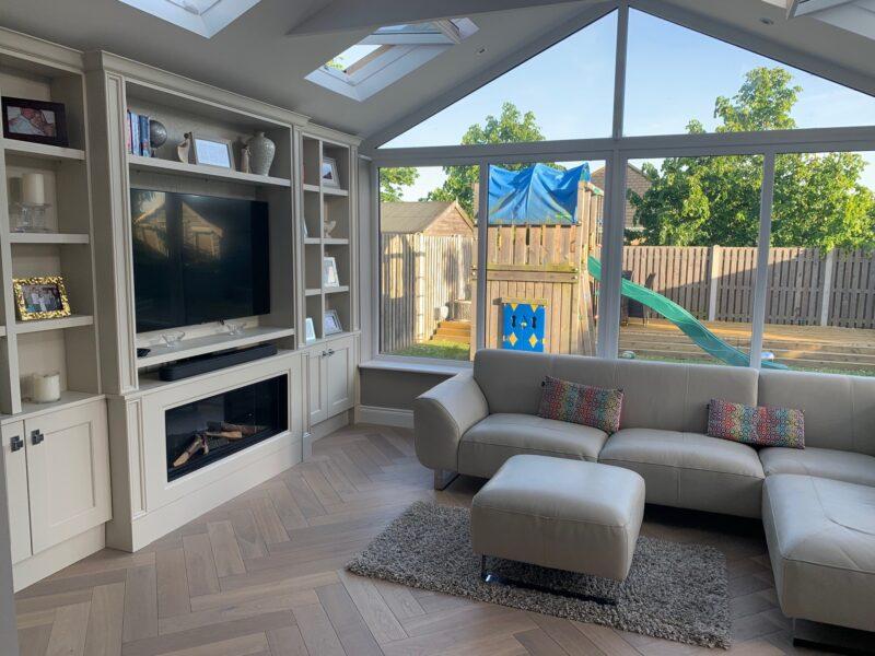 New Sunroom TV Room