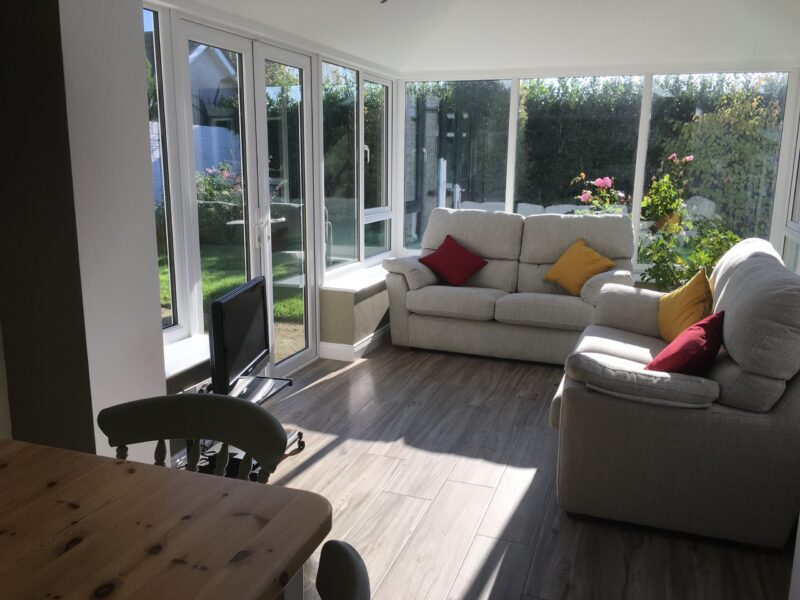 New Sunroom to Replace a Conservatory Inside